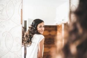 Svatební líčení s účesem