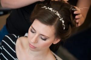 Svatební líčení a účes pro klientku